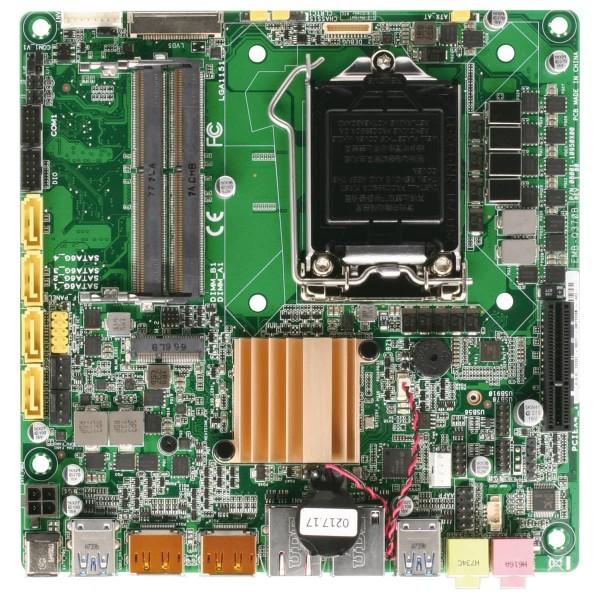 thin mini-ITX AAEON ind., Intel®Q370 Express