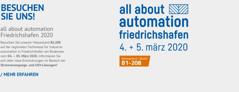 all about automation – Besuchen Sie uns!