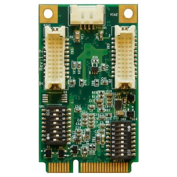 Mini PCI-e 4-port RS-232/422/485