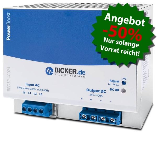 480W / 3x 320...600VAC / 24V / 20A
