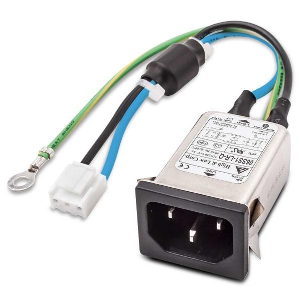IEC-Steckerfilter incl. Kabel und Ferrit